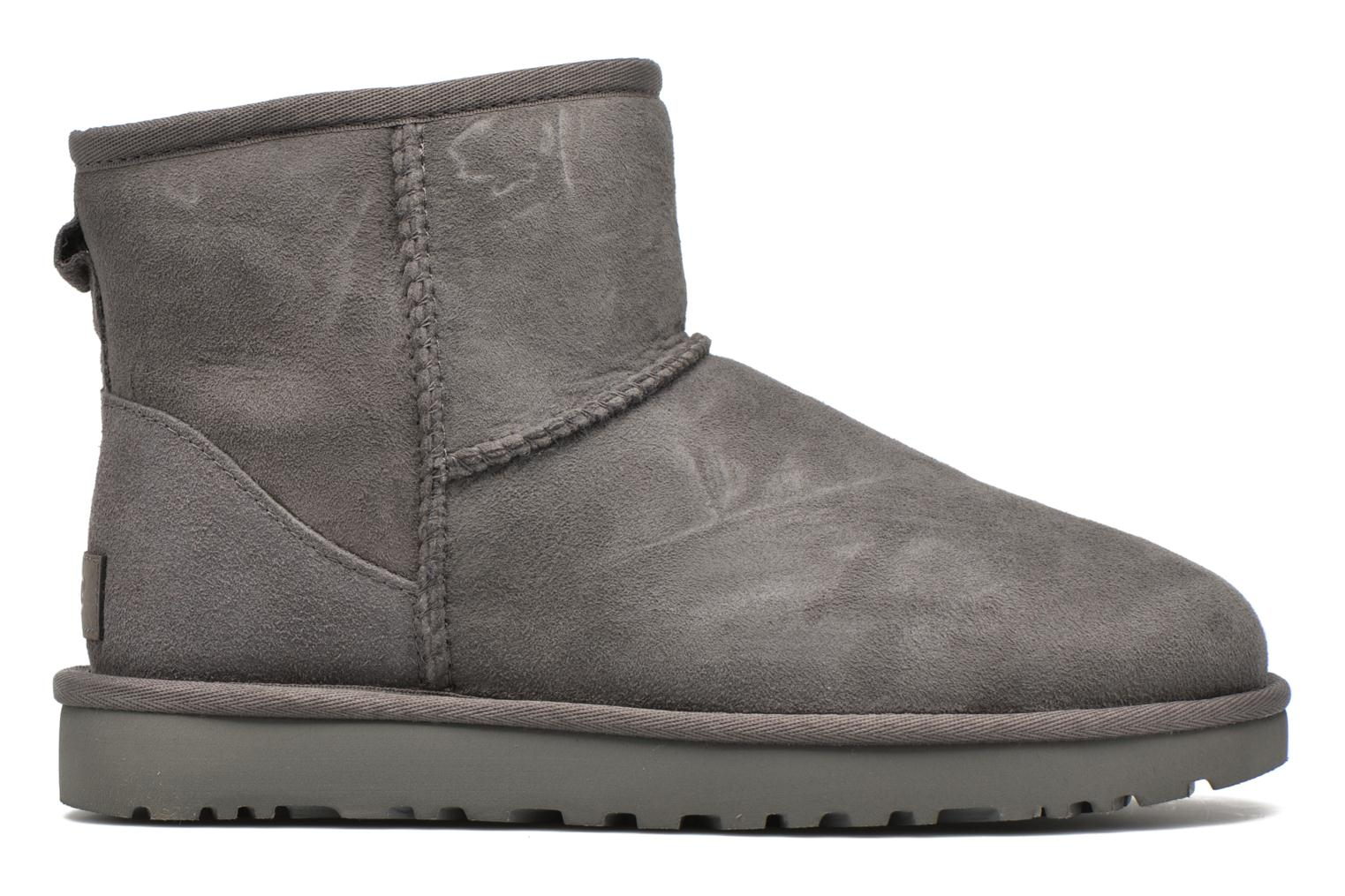 Ankle boots UGG W Classic Mini II Grey back view