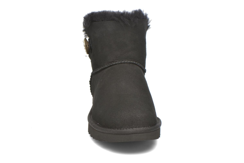 Stiefeletten & Boots UGG W Mini Bailey Button Bling schwarz schuhe getragen