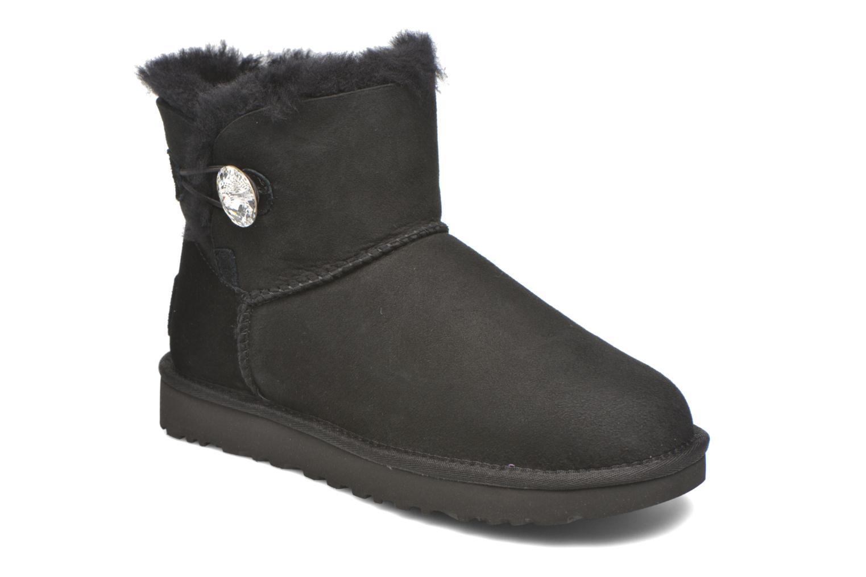 Stiefeletten & Boots UGG W Mini Bailey Button Bling schwarz detaillierte ansicht/modell