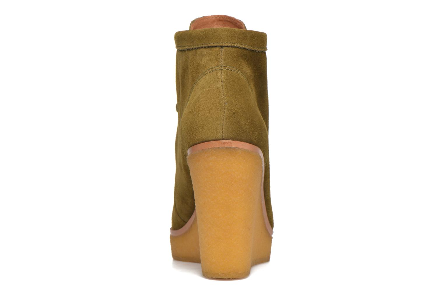Ankle boots What For Bald Green view from the right