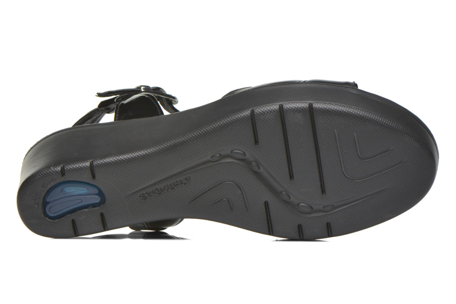 Sandals Stonefly Tess 1 Goat Black view from above