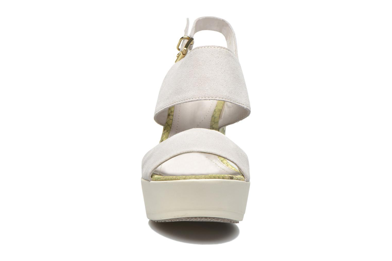 Sandalen Stonefly Saint Tropez 7 Velour beige schuhe getragen