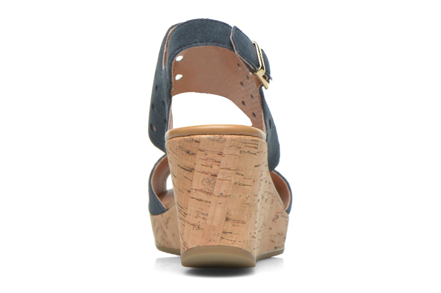 Sandals Stonefly Marlene 19 Velour Blue view from the right