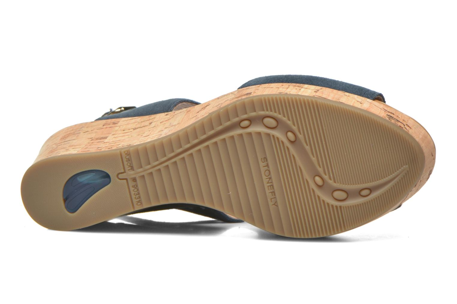 Sandals Stonefly Marlene 19 Velour Blue view from above