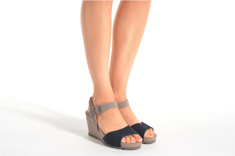 Sandali e scarpe aperte Stonefly Anita 1 Velour Azzurro immagine dal basso