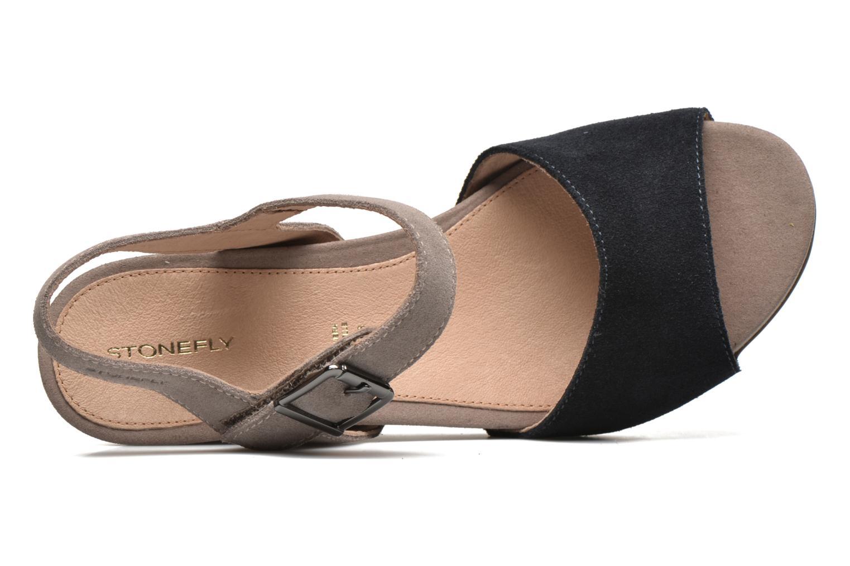 Sandales et nu-pieds Stonefly Anita 1 Velour Bleu vue gauche