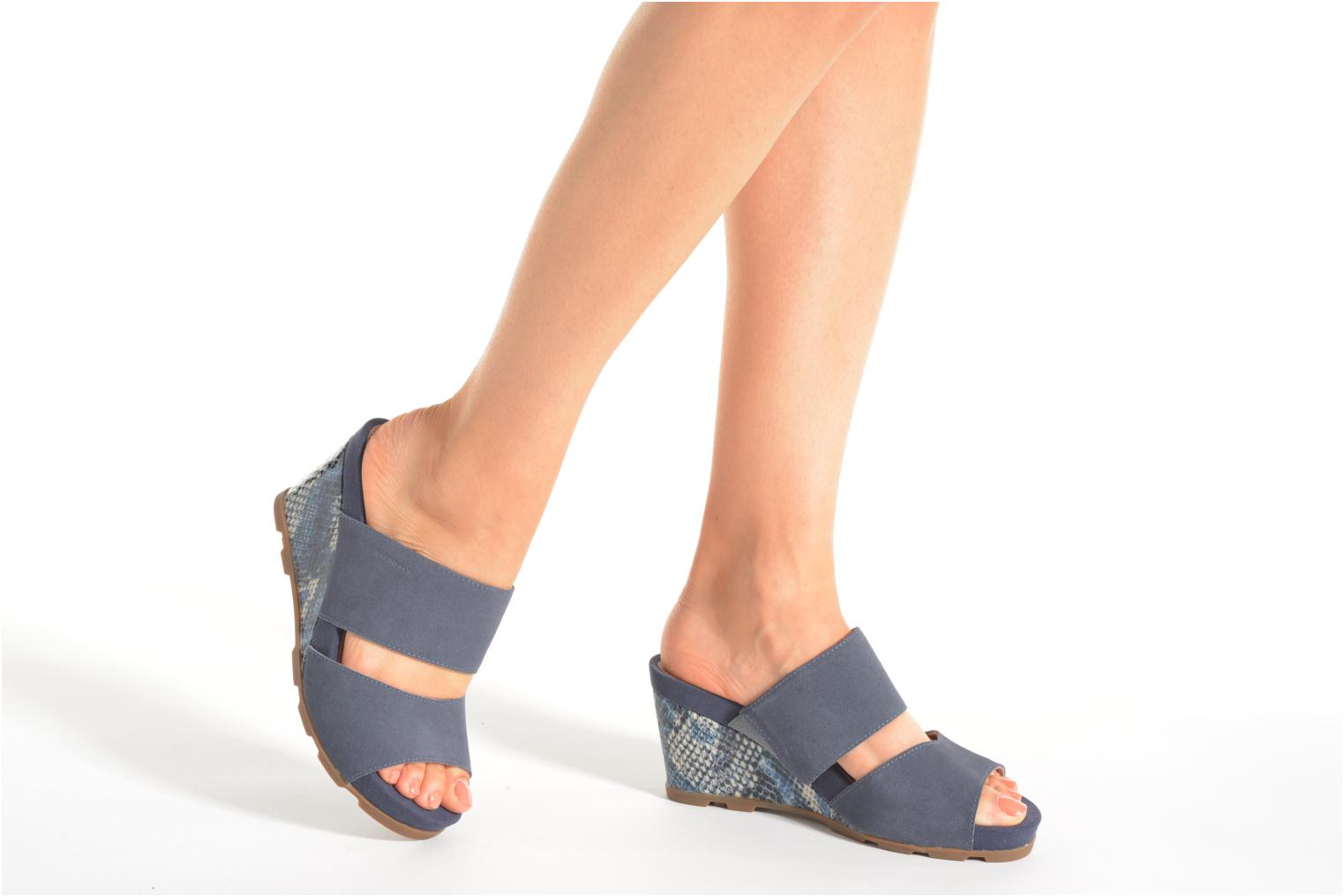Mules & clogs Stonefly Anita 2 Velour Blue view from underneath / model view