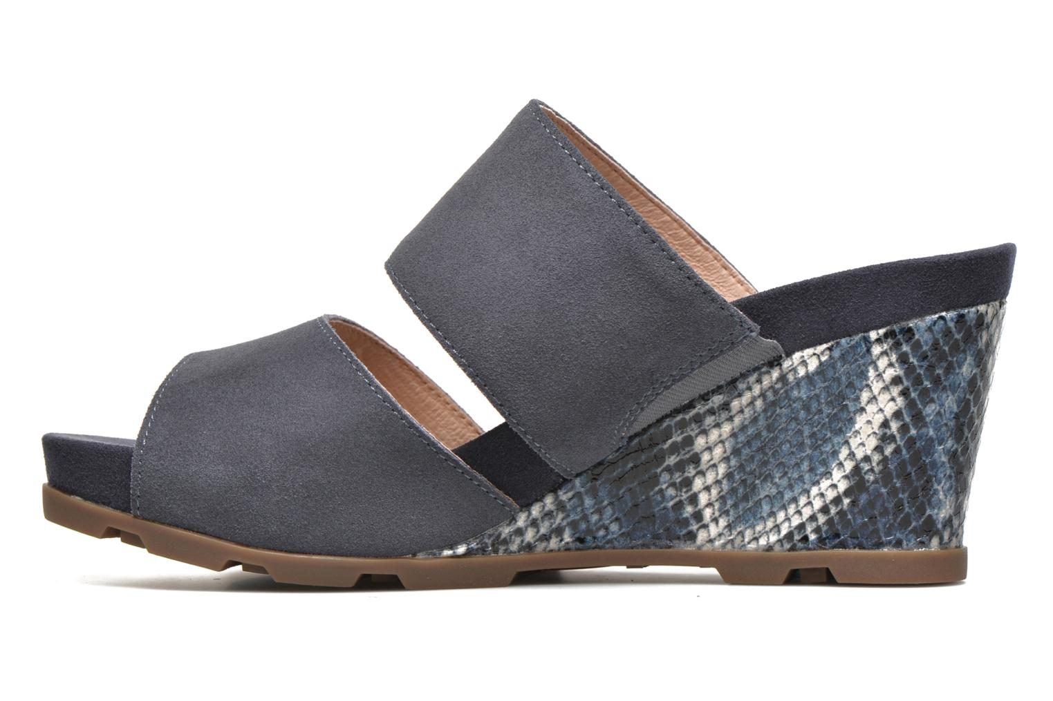Mules & clogs Stonefly Anita 2 Velour Blue front view