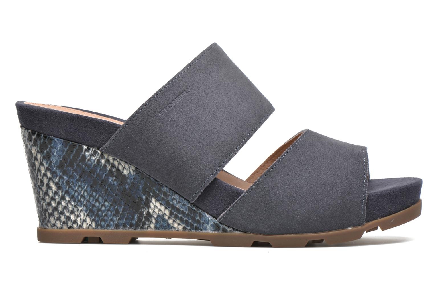 Mules & clogs Stonefly Anita 2 Velour Blue back view