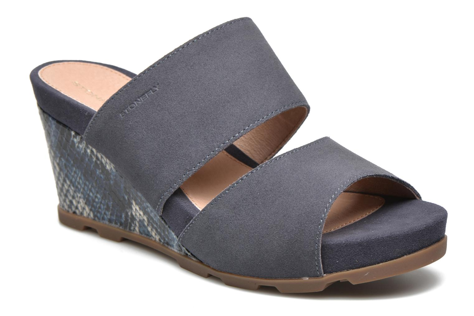 Mules & clogs Stonefly Anita 2 Velour Blue detailed view/ Pair view
