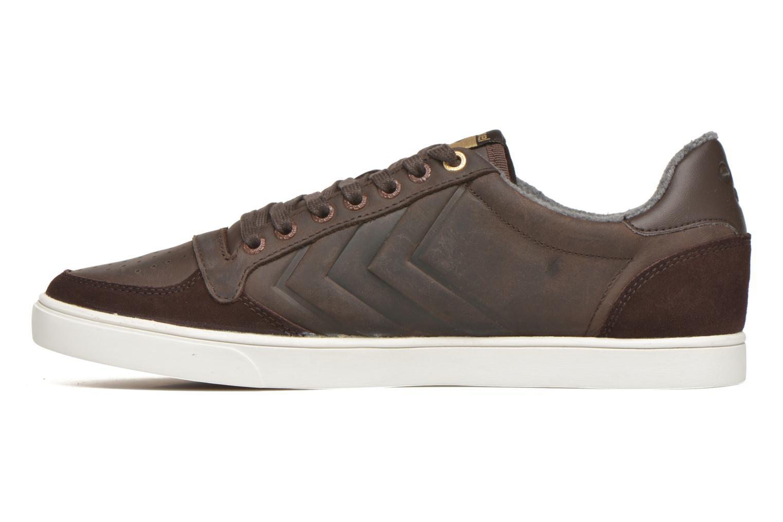Sneaker Hummel Ten Star Mono Oiled Low braun ansicht von vorne