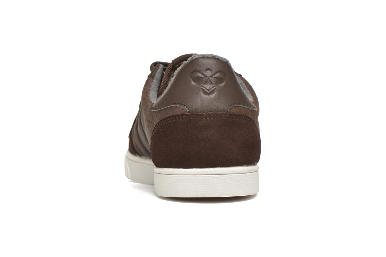 Sneaker Hummel Ten Star Mono Oiled Low braun ansicht von rechts