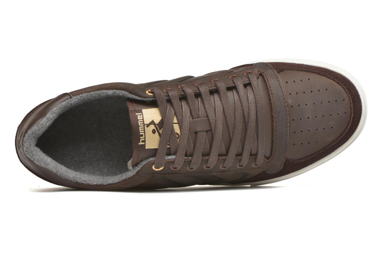 Sneaker Hummel Ten Star Mono Oiled Low braun ansicht von links