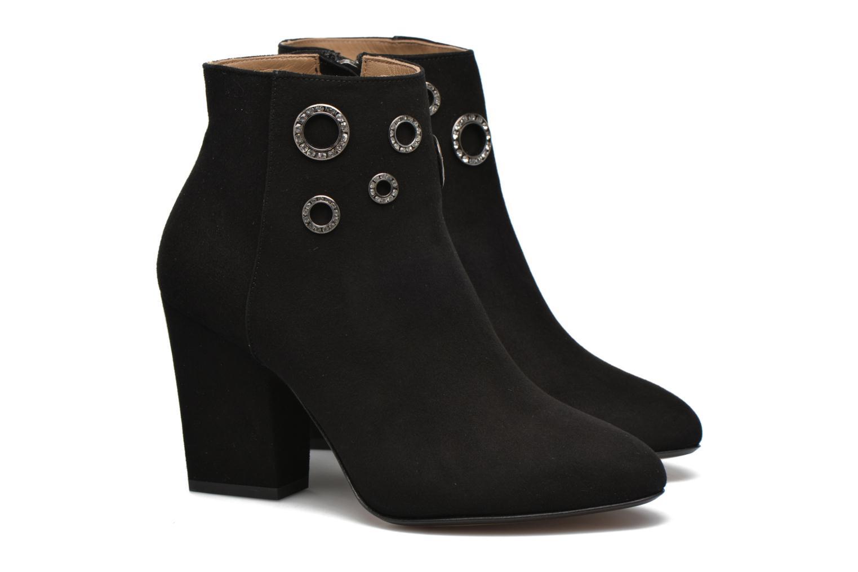 Ankle boots Sonia Rykiel Bottine Strassée Black 3/4 view