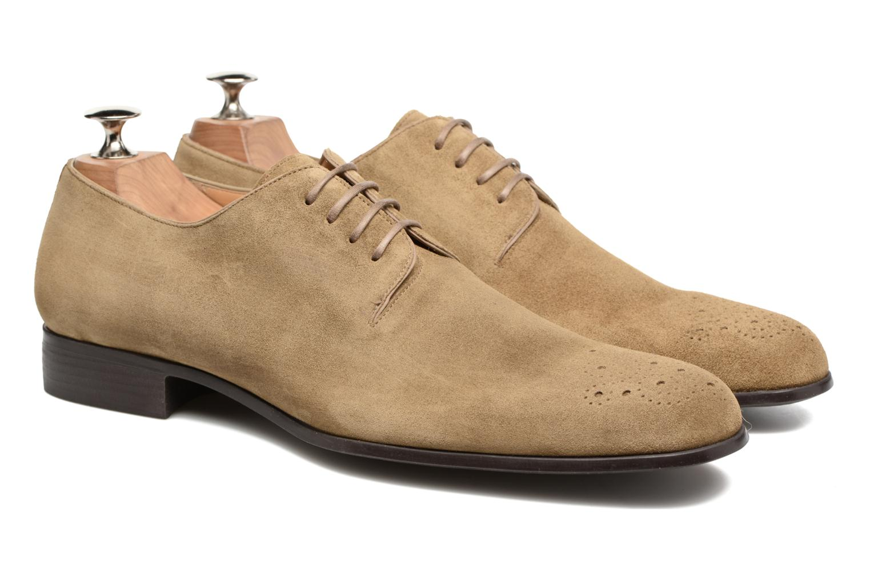 Chaussures à lacets Jean-Baptiste Rautureau Rija Derby Perfos Beige vue 3/4