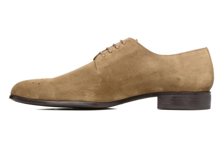 Chaussures à lacets Jean-Baptiste Rautureau Rija Derby Perfos Beige vue face