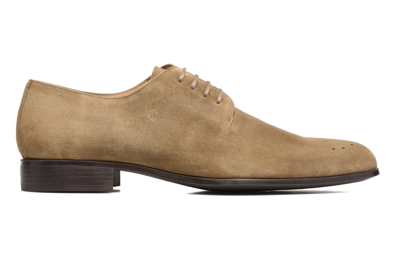 Chaussures à lacets Jean-Baptiste Rautureau Rija Derby Perfos Beige vue derrière
