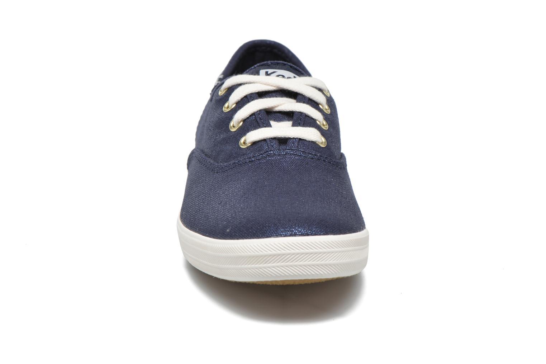 Sneaker Keds Ch Metallic Canvas blau schuhe getragen
