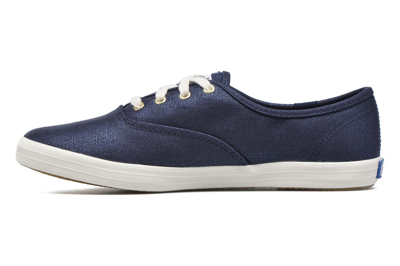 Sneaker Keds Ch Metallic Canvas blau ansicht von vorne