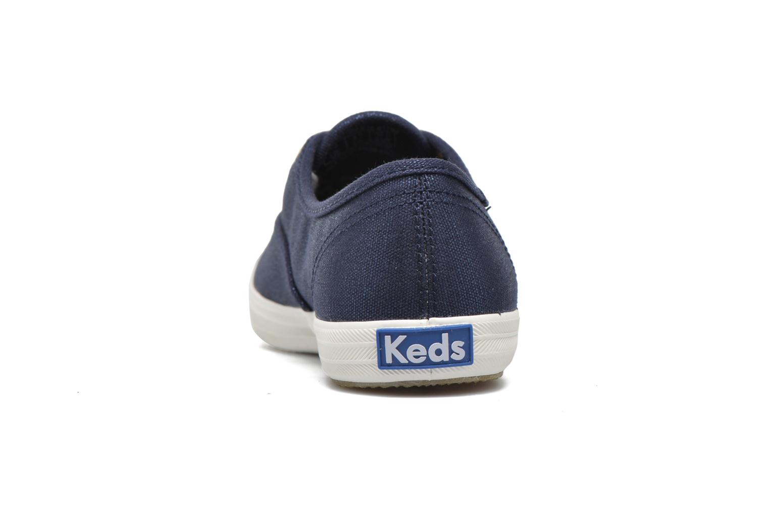 Trainers Keds Ch Metallic Canvas Blue view from the right