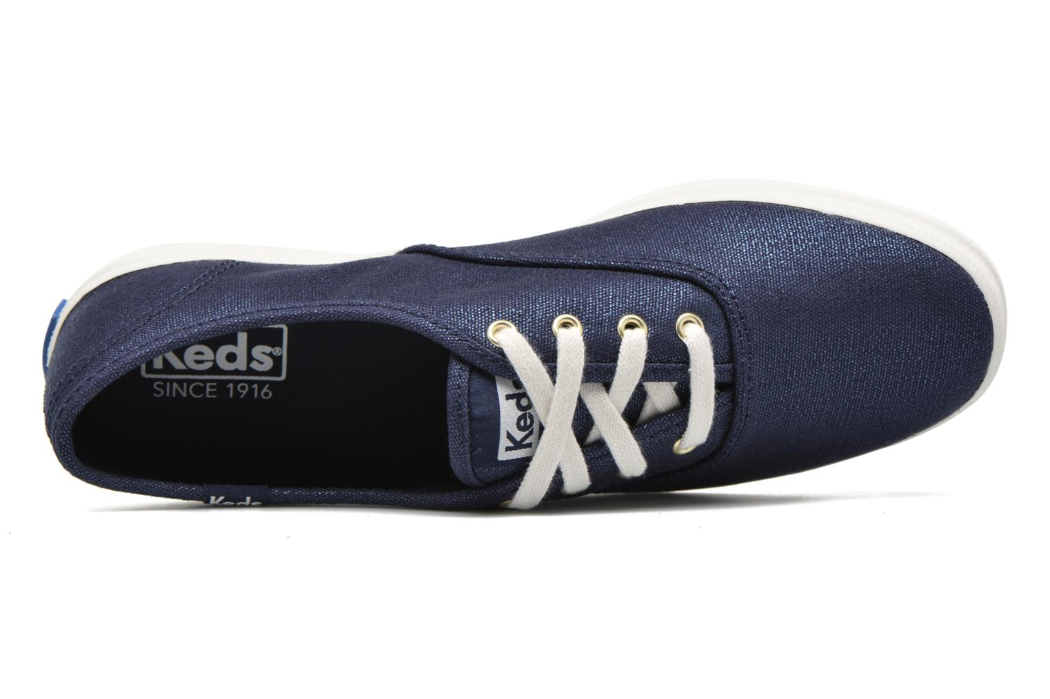 Trainers Keds Ch Metallic Canvas Blue view from the left
