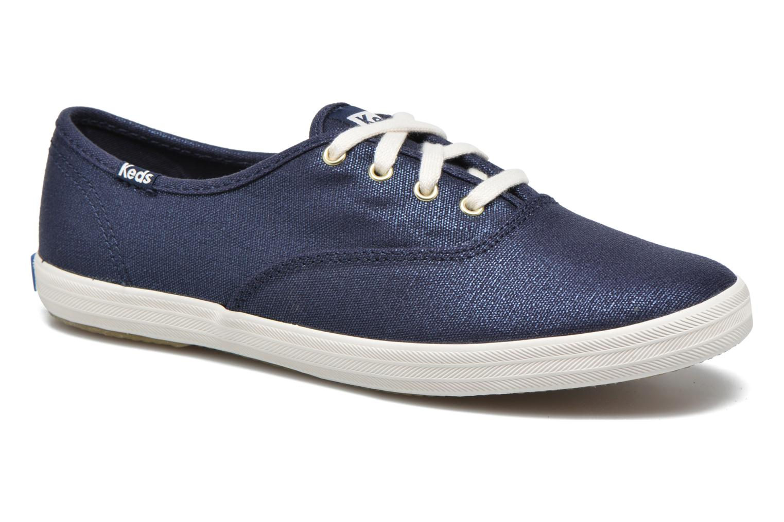Trainers Keds Ch Metallic Canvas Blue detailed view/ Pair view