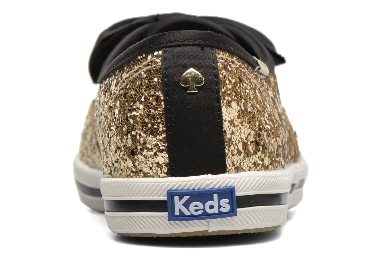 Deportivas Keds Ch Laceless Kate Spade Tuxedo Bow Glitter Oro y bronce vista lateral derecha