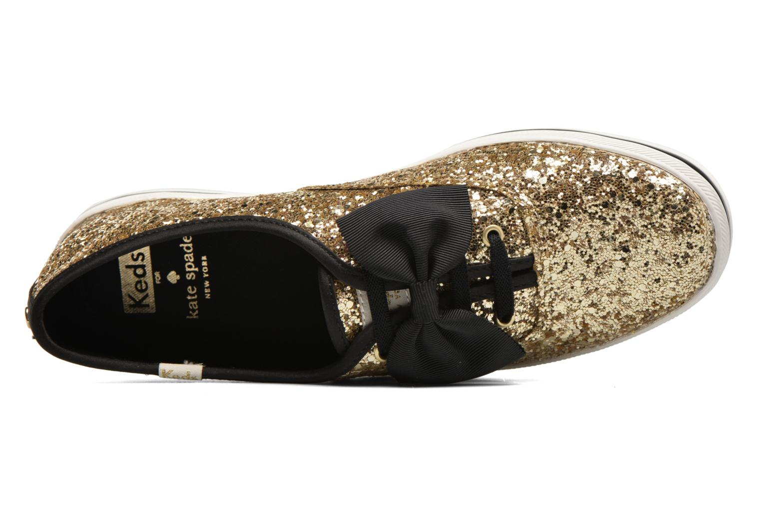 Ch Laceless Kate Spade Tuxedo Bow Glitter Gold