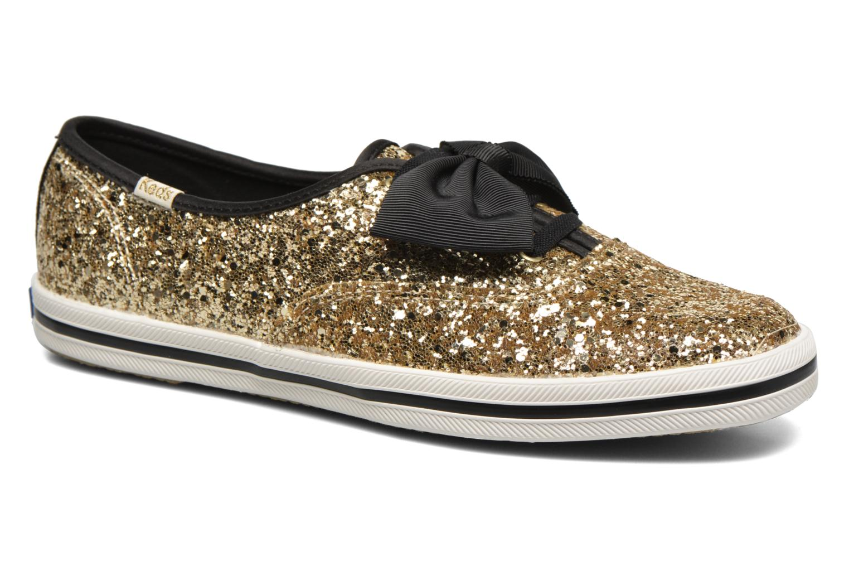 Ch Laceless Kate Spade Tuxedo Bow Glitter Gold
