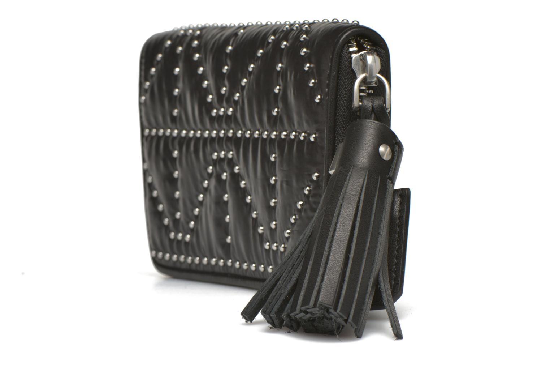 Wallets & cases Sonia Rykiel Portefeuille nylon clouté Black model view