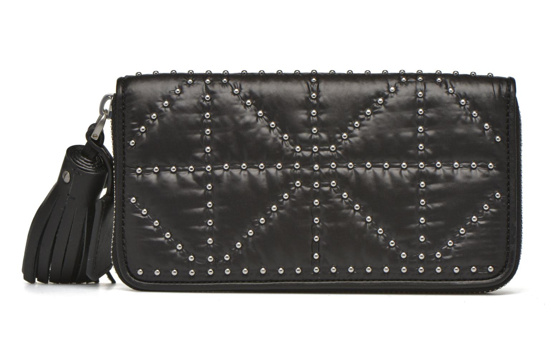 Wallets & cases Sonia Rykiel Portefeuille nylon clouté Black front view