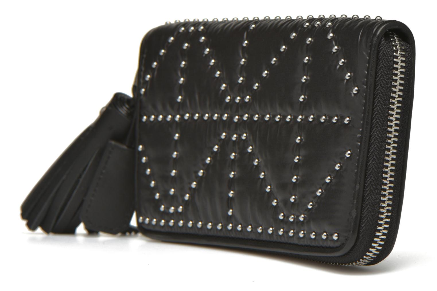Wallets & cases Sonia Rykiel Portefeuille nylon clouté Black view from the right
