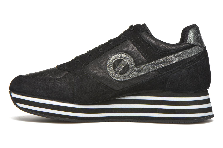 Sneaker No Name Parko Jogger Split / Skin schwarz ansicht von vorne
