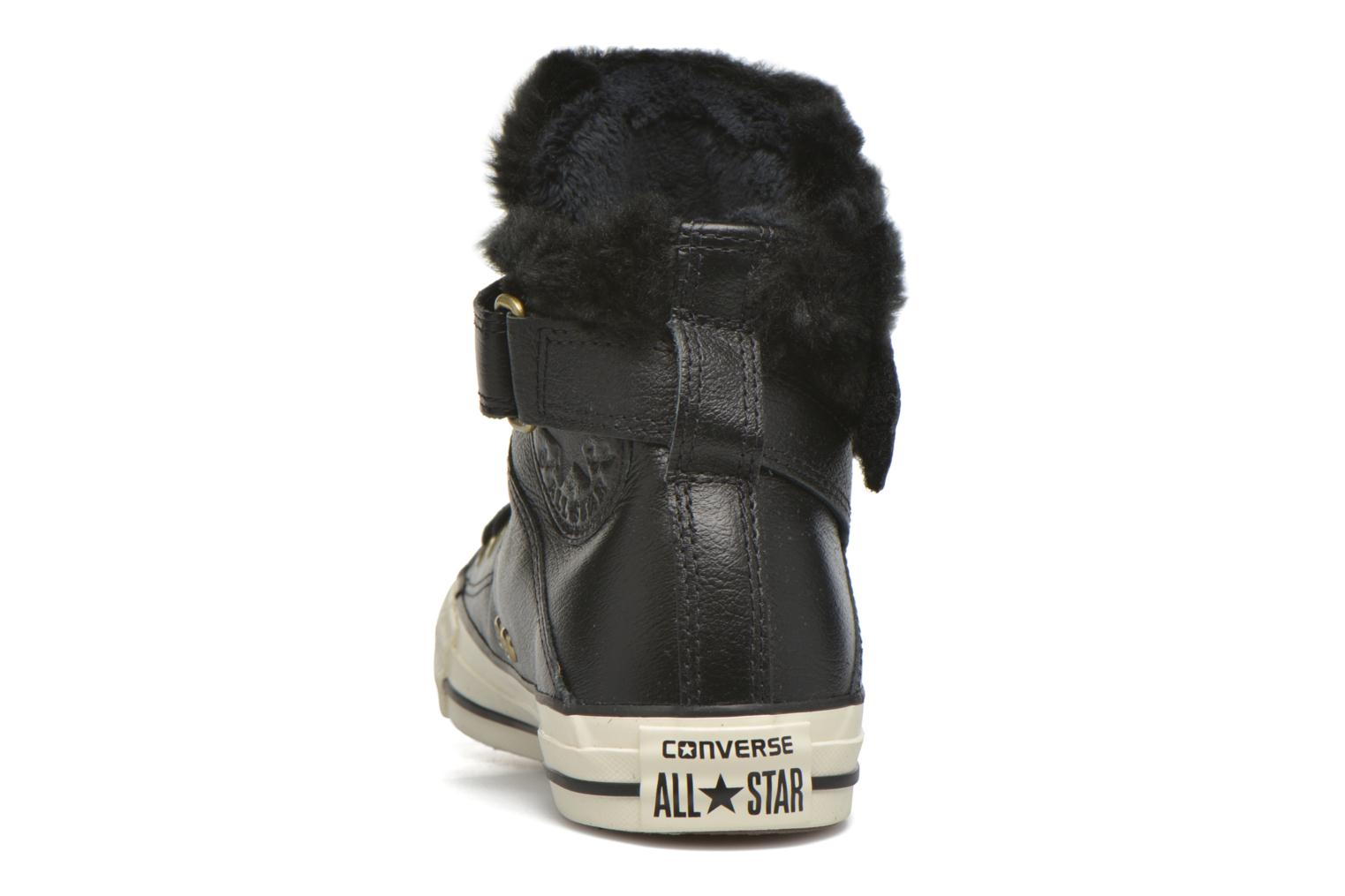 Trainers Converse Chuck Taylor All Star Brea Leather+Fur Hi Black view from the right