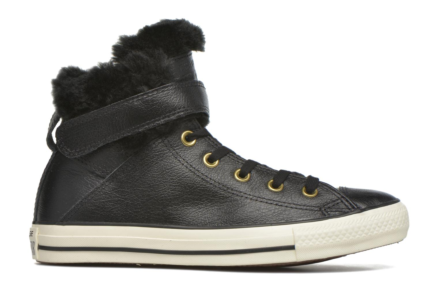 Trainers Converse Chuck Taylor All Star Brea Leather+Fur Hi Black back view