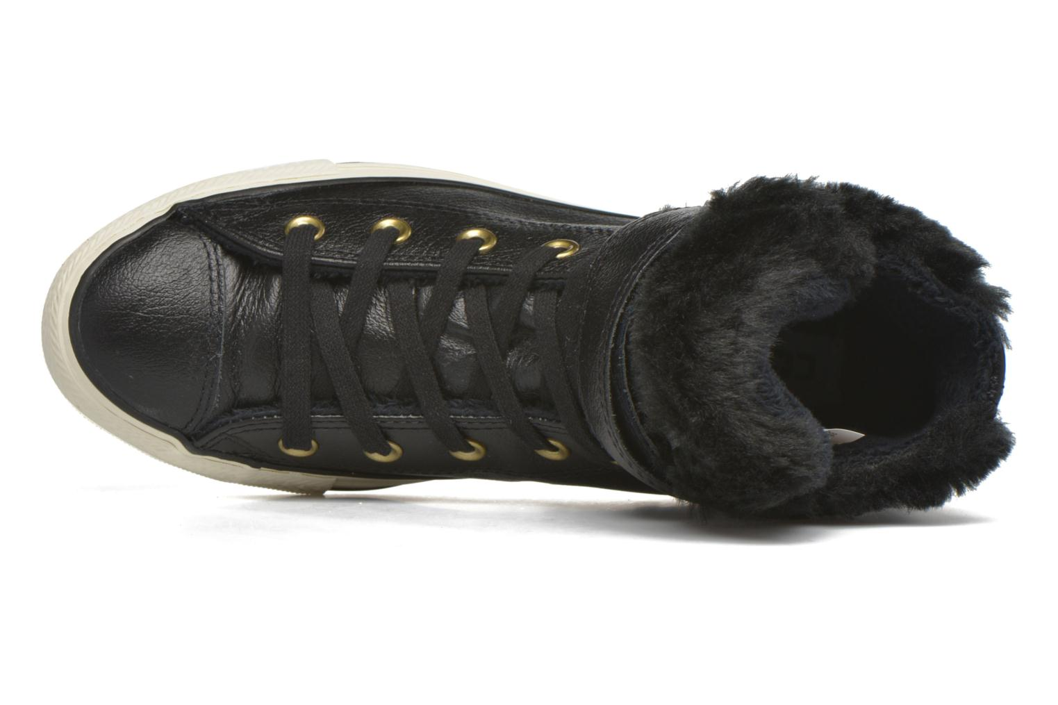 Trainers Converse Chuck Taylor All Star Brea Leather+Fur Hi Black view from the left