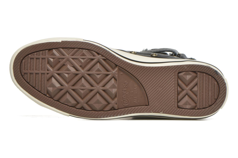 Baskets Converse Chuck Taylor All Star Brea Leather+Fur Hi Noir vue haut
