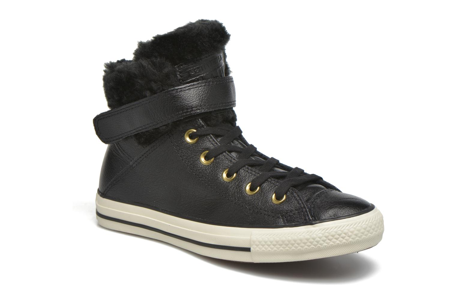 Trainers Converse Chuck Taylor All Star Brea Leather+Fur Hi Black detailed view/ Pair view
