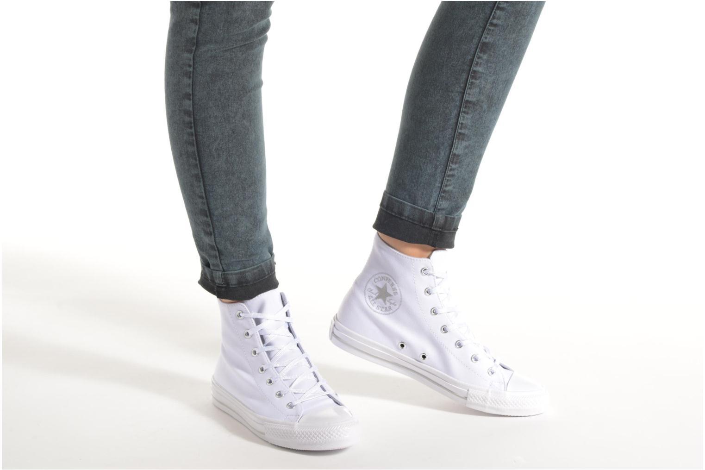Sneaker Converse Chuck Taylor All Star Gemma Twill Hi weiß ansicht von unten / tasche getragen