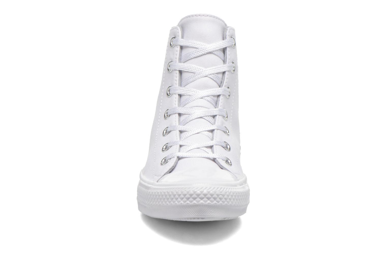 Baskets Converse Chuck Taylor All Star Gemma Twill Hi Blanc vue portées chaussures