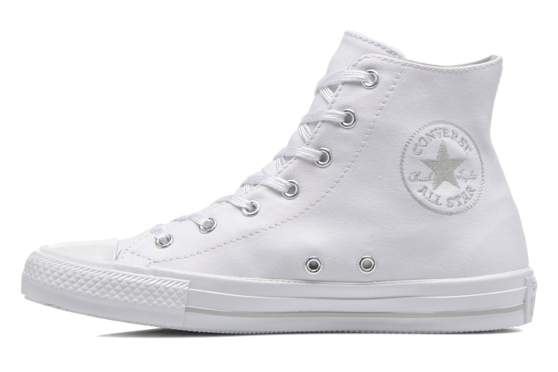 Sneaker Converse Chuck Taylor All Star Gemma Twill Hi weiß ansicht von vorne