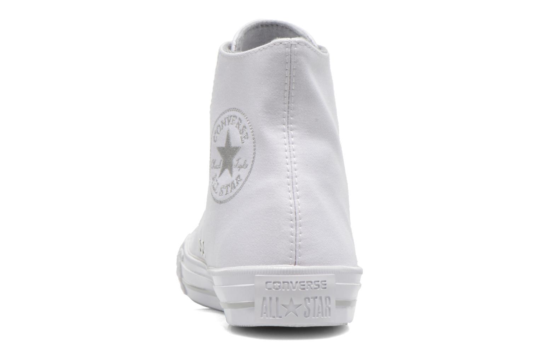 Sneaker Converse Chuck Taylor All Star Gemma Twill Hi weiß ansicht von rechts