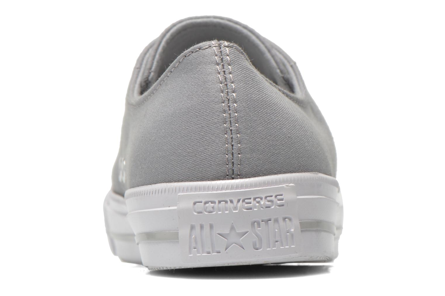 Trainers Converse Chuck Taylor All Star Gemma Twill Ox Grey view from the right