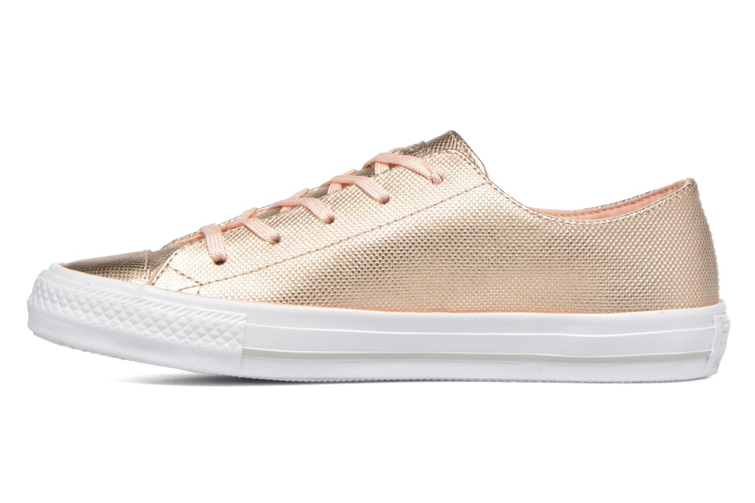 Baskets Converse Ctas Gemma Diamond Foil Leather Ox Rose vue face