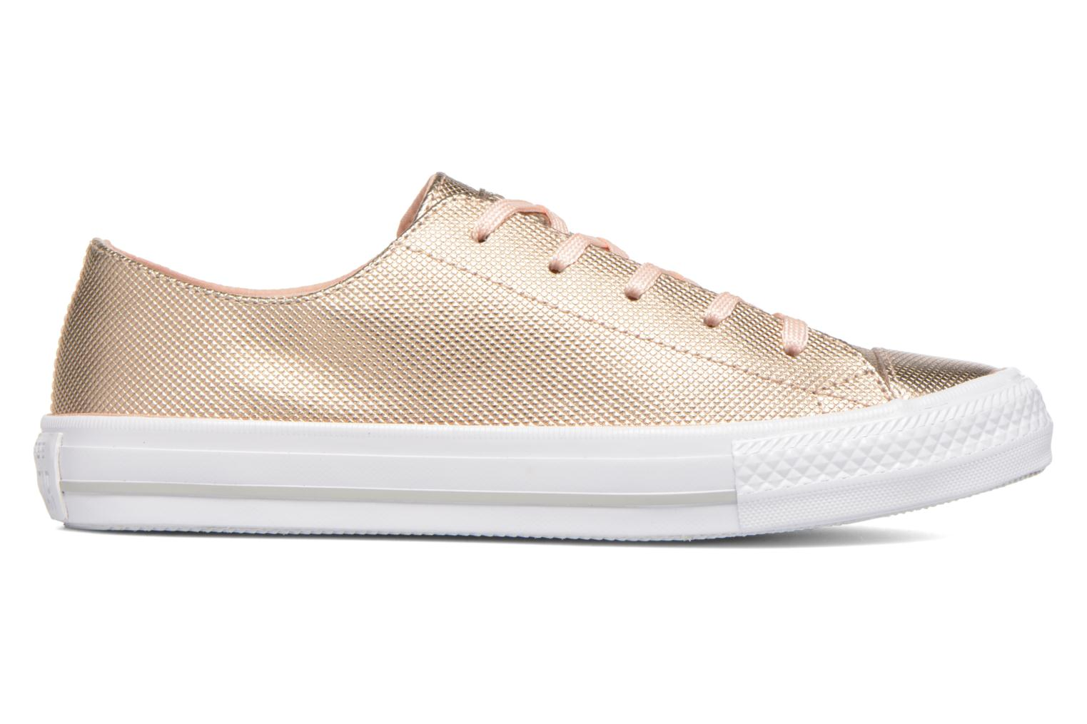 Baskets Converse Ctas Gemma Diamond Foil Leather Ox Rose vue derrière