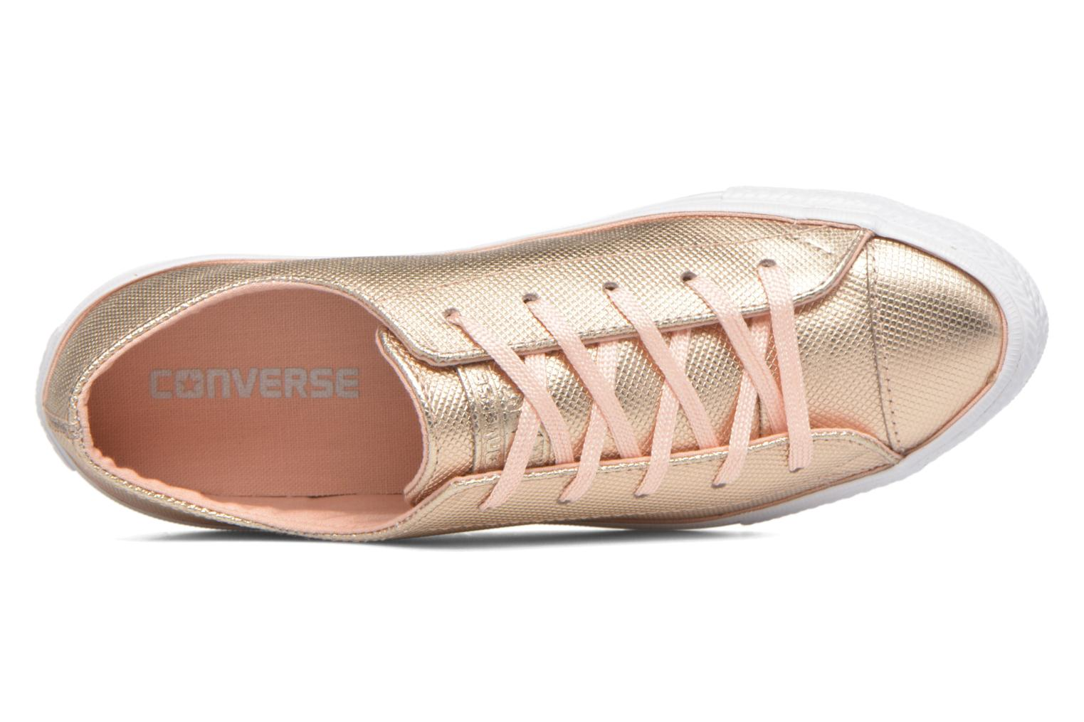 Baskets Converse Ctas Gemma Diamond Foil Leather Ox Rose vue gauche