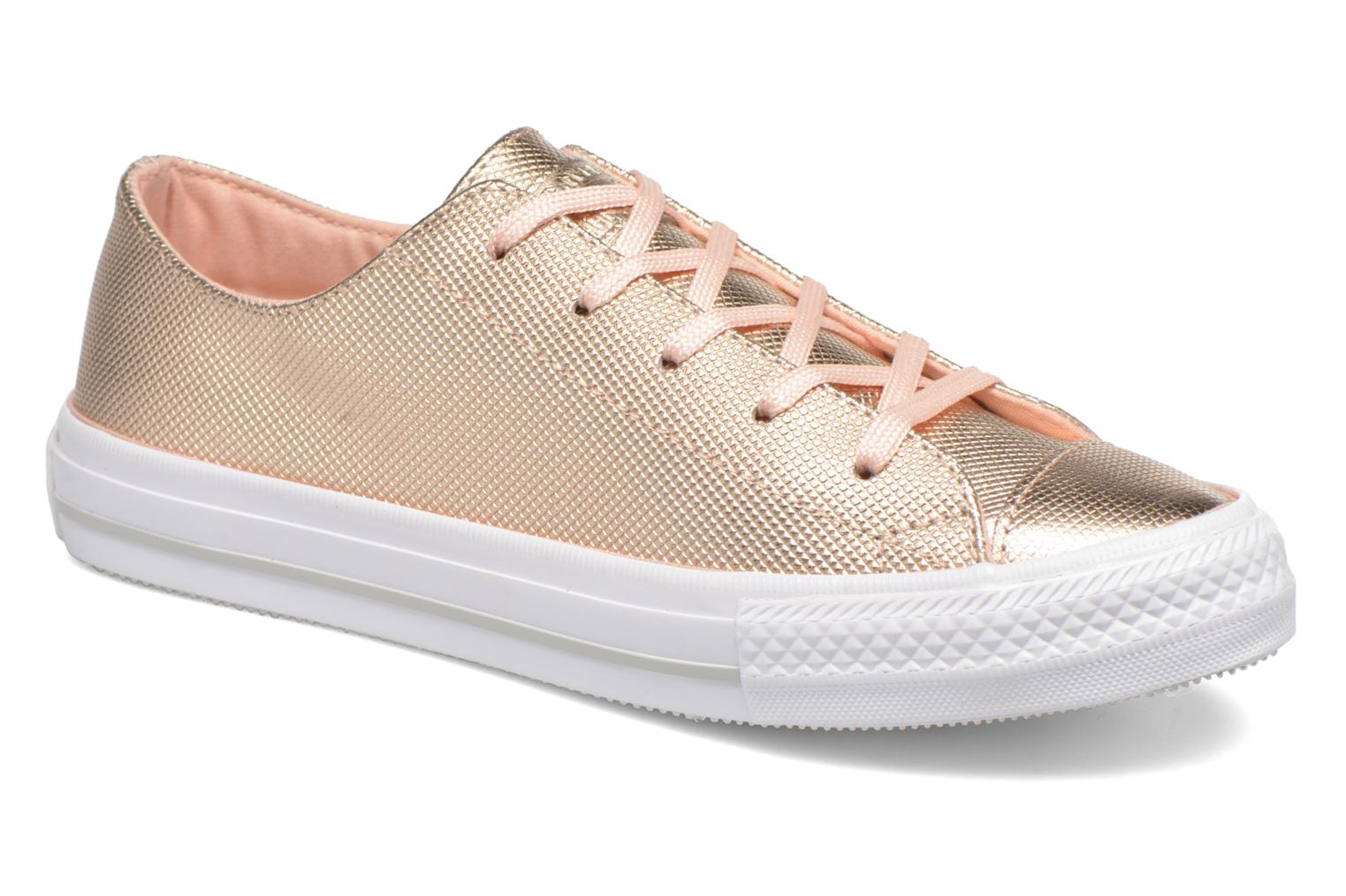 Baskets Converse Ctas Gemma Diamond Foil Leather Ox Rose vue détail/paire