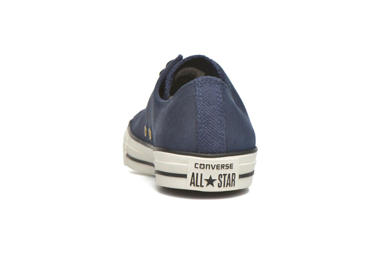 Sneaker Converse Ctas Ox Lthr M blau ansicht von rechts