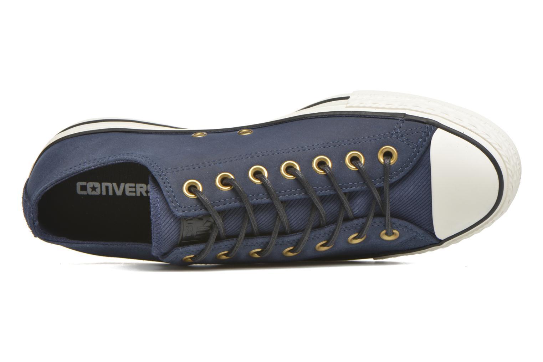 Sneaker Converse Ctas Ox Lthr M blau ansicht von links