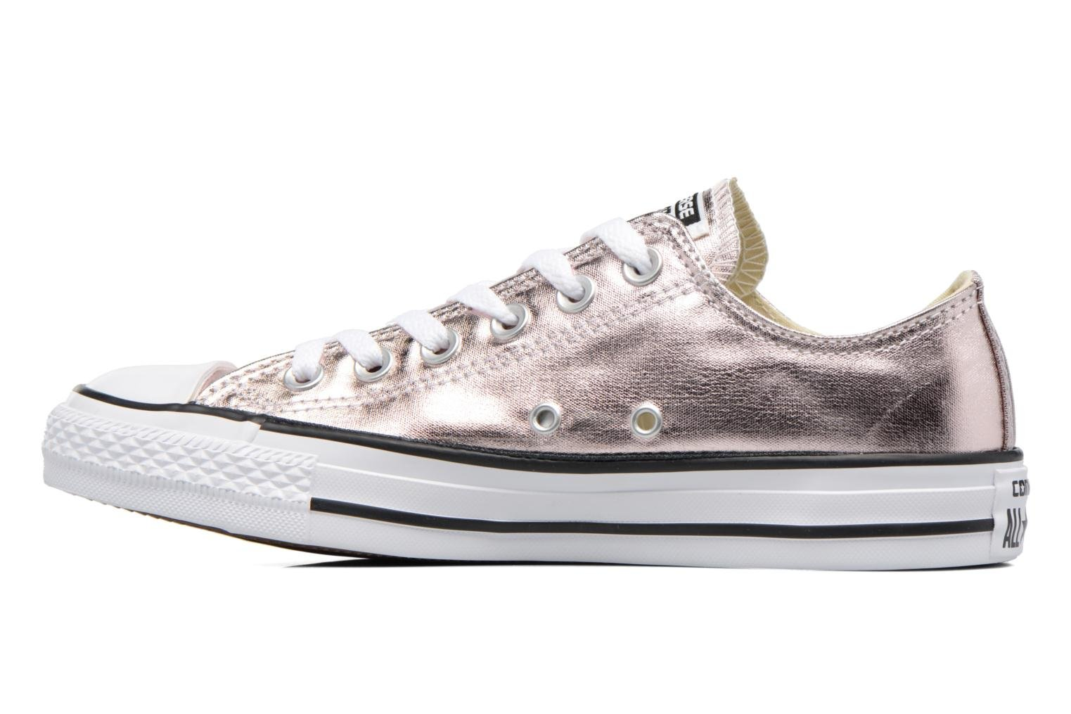 Baskets Converse Chuck Taylor All Star Ox Metallics W Or et bronze vue face